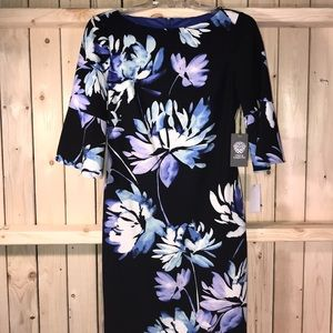 New Vince Camuto shift dress floral size 2